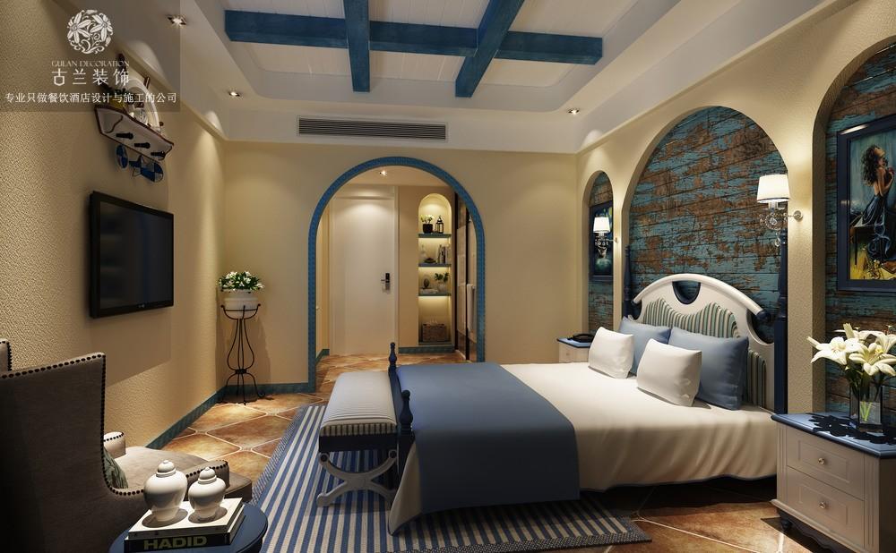 川眉山酒店设计公司-营山美庐主题酒店装修效果图