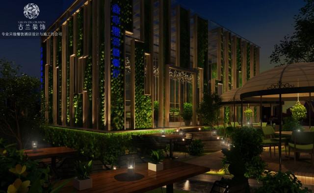成都金丰翔精品湘菜花园餐厅将打造的宗旨是:笼罩在绿色的环境里面,就像到朋友家花园里用餐一样放松的环境,创造了结合花园怀旧与小资的气氛。