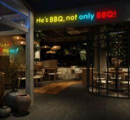 重庆主题餐厅设计-何师烧烤店(九街店