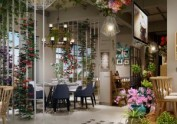成都花园餐厅设计-邛崃花坊故事花园