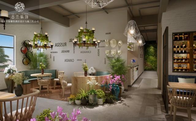 设计说明:客户力求打造花园式用餐和休闲环境。融入现代时尚的设计理念,努力打造邛崃新城区新地标.