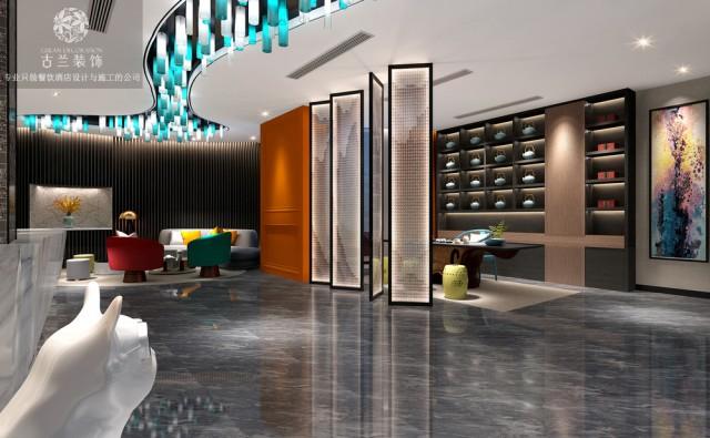 设计说明:酒店位于恩施土家族苗族自治州建始县内,酒店设计既有让人有宾至如归的感受,也有艺术精品的体现。步入大厅,最先入眼帘的就是创意灯光设计,在宽敞的大厅这不仅仅是灯也是一种艺术,为空间带来活力。古兰装饰酒店设计团队用隔断将大厅巧妙分离出不同的功能区域,创造多种空间体验。
