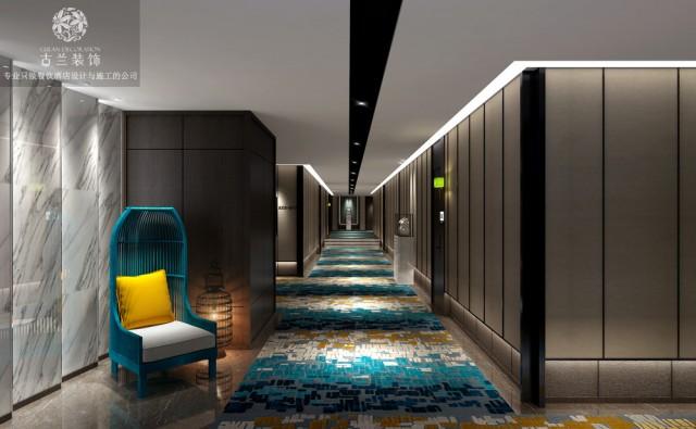 """过道灯光设计有一种""""一镜到底""""的既视感,休息区椅子的颜色也与过道地毯形成呼应。酒店客房虽与公共区域拥有不同的属性,但是设计师也通过设计将其联系一起,形成一种""""形散而神不散""""状态。设计师将简单环保的原木用于其中,创意的背景以及书架,简洁却不简单。不同的客房为客人带来不一样的入住体验。粉色的灯带,圆形的灯具,圆床都是浪漫的体现。"""