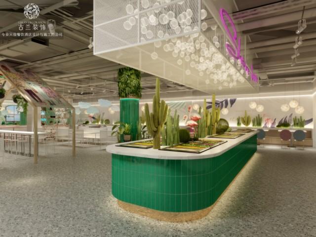 重庆餐厅设计。项目名称:巴中南坝区中心医院餐厅 项目地址:四川省巴中市巴州区将军大道