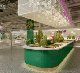 巴中餐厅设计-巴中南坝区中心医院餐厅