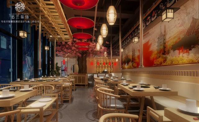 设计说明:客户味道引致韩国,为了体现 特色和中国特色结合,风格上融入了韩式元素和老成都味道,以木色为主体结合植物的点缀,加上小景的打造,体现出亲和力和舒适的用餐环境。