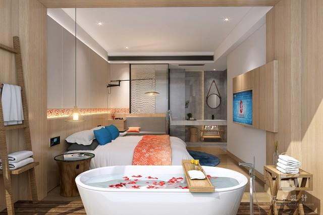 """观景度假酒店设计首先要考虑的是客人的需求,为客人营造一个具有体验感、参与感的度假酒店环境。在度假酒店设计过程中,可以围绕度假酒店的主题定位,用""""情境化""""的手法将旅游酒店的设计要和每一个设计环节结合起来,满足客人的多种需求。"""