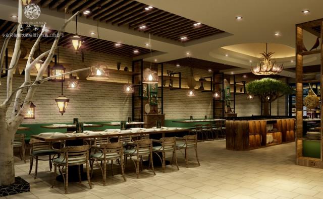 设计说明:根据投资市场的分析,本案的设计是以消费群体需求为中心,颠覆创新、打破饺子店传统的文化氛围,巧妙地配合餐厅的经营理念,营造一种现代化的艺术形态。设计元素运用改良后的木纹材质,搭配白色的文化砖墙,点缀灰黑色熟铁,配上木质和舒软布艺结合的座椅,局部有寓意的装饰小品,搭配灯光的效果,彰显粗狂和细腻的碰撞、冰与火的交流、动与静的结合。既有现代主义的少即是多、也有loft风格的高大而开阔、还有后现代主义的另类和大胆。