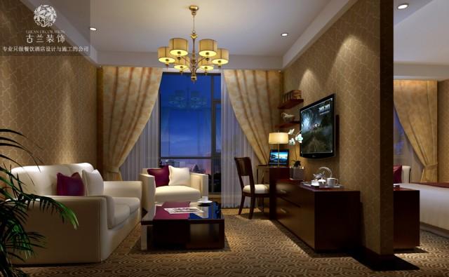 酒店面积很大,不止房间很多,而且它的大厅和从餐区域也很大。值得一提的是在它大厅和走廊处,铺垫了很抓眼的红色地毯,上面金色的条纹增加了空间的丰富性,和屋顶的灯具相得映彰。