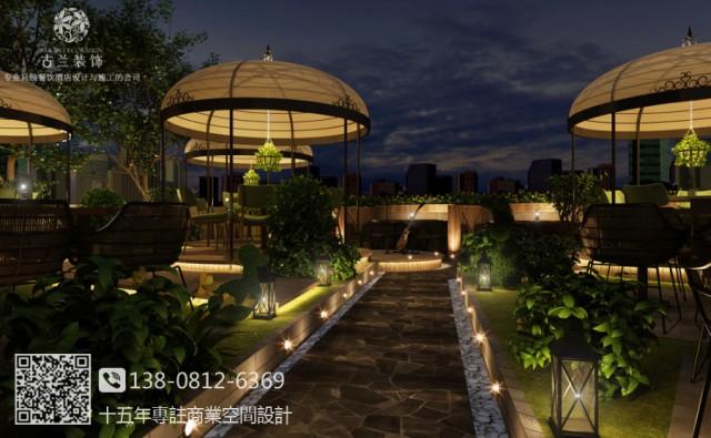 绵阳花园餐厅设计-金丰翔精品湘菜花园餐厅