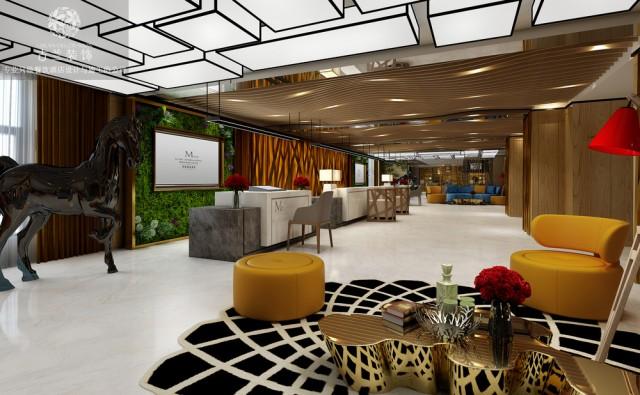 """设计说明:M-one酒店是由古兰装饰在贵阳地区设计的时尚精品酒店,在该精品酒店设计中、古兰装饰酒店设计团队充分的融入了贵阳的人文、自然、民族等元素,又巧妙的结合了现代人的生活方式,把文化、时尚、舒适、休闲、时尚巧妙的结合了在一起。M-one酒店设计可以给用户一种""""宾至是归""""的感受。古兰装饰酒店设计团队在该精品酒店设计中、对房型开发、配置配套上做了很多的创新。并结合竞争状态,古兰装饰酒店设计团队在该精品酒店设计中、充分的考虑了用户体验。酒店公共区域的设计充分融合了其艺术性与功能性,在对酒店设计时就将休闲娱乐的生活方式融入其中,将舒适、休闲、时尚巧妙结合在一起。创意的餐厅座椅设计,让整个空间都充满了艺术性。温馨的灯光,让客人在此有宾至如归的感觉。设计师在酒店过道的设计上也非常用心,创意的装饰为整个过道增添了特色,天然的木制元素以及绿植的装饰让客人有回归自然之感。 设计师将人文、自然、民俗等体现在酒店客房中。不同的色彩与不同的房型交错搭配,使每个房间都有所不同。"""