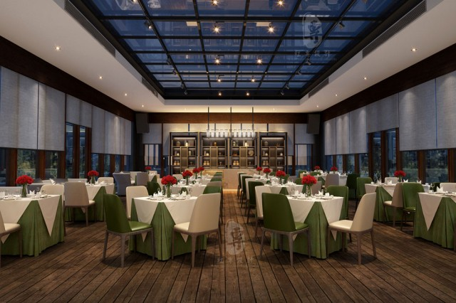 大连星级酒店设计|航城国际花园酒店