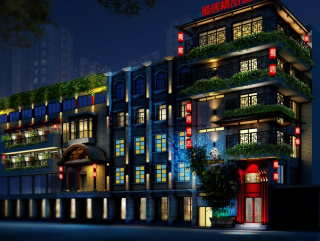 项目名称:星宇·蜀居精品酒店  项目地址:成都市春熙路商业场街  说明:蜀居精品酒店项目地处成都市春熙路商圈、人流丰富,是四川当地人和外地人都喜欢的去的地方。在本精品酒店设计中、红专设计充分使用了场景、植景、3D、体验的设计手法、来表现蜀的情怀和蜀的情绪。在该精品酒店设计中、红专设计开发了新蜀、隐蜀、民国蜀三类房型、以供喜欢的蜀文化的消费者进行选择。  本精品酒店的设计核心为:来成都、住蜀居、读四川、享天伦!  红专设计顾问公司,是一家专业从事酒店设计的酒店设计公司。正所谓术业有专攻,经过多年的发展,红专设计已经拥有一个完整的酒店设计业务体系,案例、有关设计思路都有了成熟的表现。