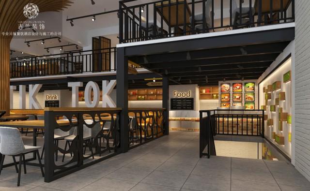 成都快餐厅设计-食刻餐厅,