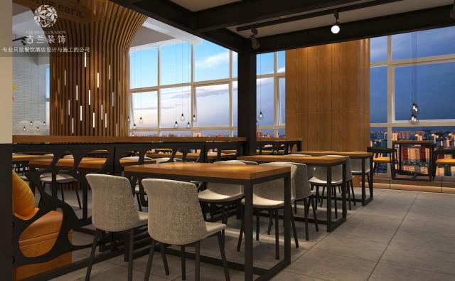 成都快餐厅设计-食刻餐厅