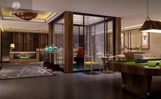 在本度假酒店设计中、古兰装饰公司酒店设计团队充分利于其地形优势、青城山的山居文化、打造了一个天一合一的情怀类作品!