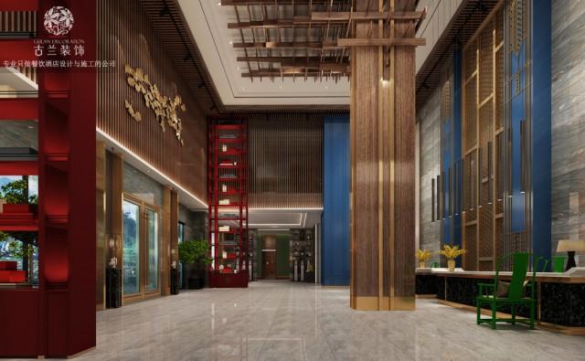 贵州六盘水专业精品酒店设计|蓝山一品精品酒店
