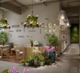 成都花园餐厅设计公司-邛崃花坊故事