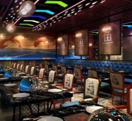 成都海鲜餐厅装修公司-大东海自助海