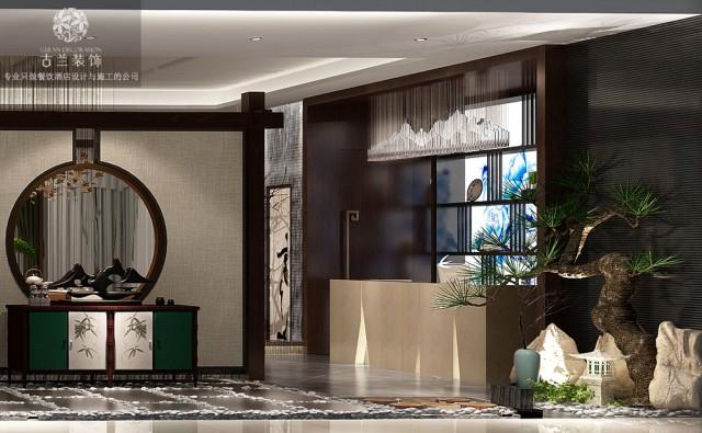 《西宁唐韵茶坊》项目地址:西宁市海湖新区唐道637美豪酒店国美电器5楼,设计说明:西宁唐韵坐落在西宁海湖新区唐道附近,是一家风格独特的茶坊。唐韵因为位于美豪酒店内,所以它周围的环境是很现代化的,也很时尚。茶坊在这样的大环境下有着自己独特的复古风格,但却不是一味的纯古式走向,唐韵茶坊可以说是一家创新式的茶坊,复古元素和时尚元素并重,没有过多的倾向于哪一方面。茶坊室内通透明亮,地板和墙面色调的饱和度很高,在加之灯光的照耀,空间显得很干净。而桌椅和置物架选用的棕和深蓝色,它们驱散了室内色彩的单调性。让人们的视觉有了一个很好的重心效果。空间里的木质隔断设计,在节约空间成本的同时,也把空间给划分成了多了区域,可谓是一举两得。  