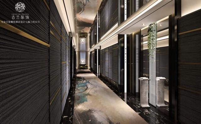 HW现代时尚精品酒店设计-酒店过道