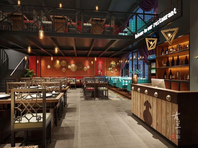 项目名称:李子坝梁山鸡连锁店  项项目地址:成都水街 项目面积:200平 设计说明:李子坝梁山鸡源于重庆的特色餐饮,结合当下潮流,我们把当下工业元素和中式颜色结合在一起,为客户打造复合的餐饮空间。
