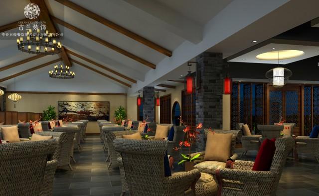 设计说明:整个酒楼共分为三层,一层主要是大厅用于宴会为主的设计,二层为包间和大厅的综合布局,同时将楼上楼下舞  台背景LED拼接屏的使用,更加有利于大型宴会的互动效果,二楼的包间中也设置的有茶楼、机麻同时对外开放经营,三层的  风格与一二层是完全不同的空间,主要是以简单的川西中式为主,含蓄的表达了川西民俗的休闲的文化氛围。