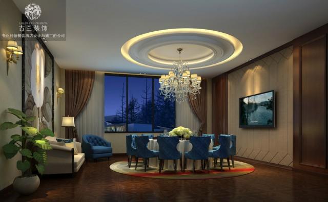 酒楼外观的设计上,通过欧式线条的叠加,将整个建筑的外观表现出来,洗墙灯的表现形式主要  在点光源,线光源的使用,将建筑本身美进行表现。