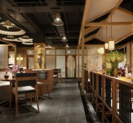 成都餐厅设计-成都蓝城悦杏餐厅