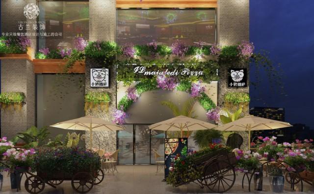 《贵州小猪披萨餐厅》,风格:时尚特色花园餐厅。成都主题餐厅设计,成都主题餐厅装修效果图。成都餐厅装修,联系电话/微信:173****6608(小邓)