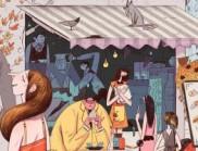 Ovadia Benishu笔下的日常生活插画
