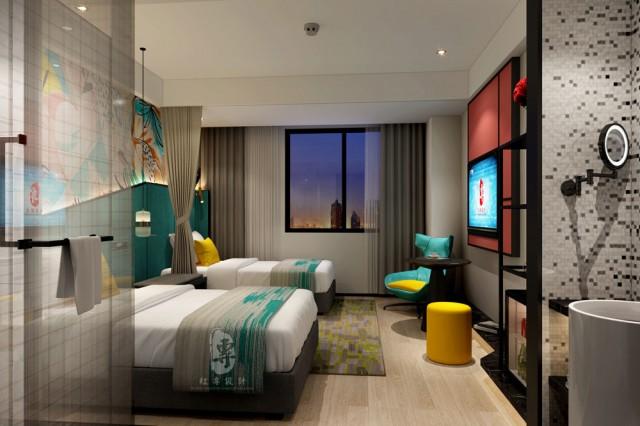 邛崃酒店设计-红专设计 | 西安维度时尚酒店