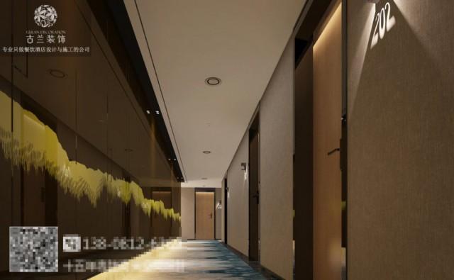 在舒适的房型中,设计师采用水墨样式的地毯与挂画,与大厅的背景形成一种空间上的呼应。