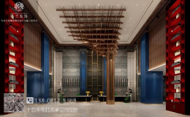 古兰装饰酒店设计师在酒店中添加一些银杏元素,每一处细节都经过用心的铺排,传递着自然雅趣的格调。门头是酒店的档次的体现,大气的门头设计彰显了酒店的气质,让客人能感受到有面。