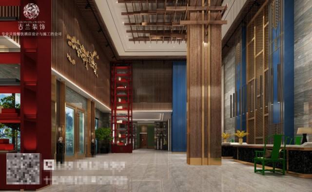 步入大厅,首先感受到的是酒店恢弘大气,在整体木色调的空间中,穿插着红蓝的搭配,让客人能够有热情好客的感受。酒店独特的装置连接着屋顶与地面,让客人能够感受到生命的质感。