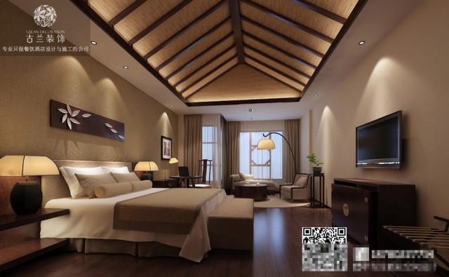 其次是酒店设备的初装成本等等,其他的成本都是固定的了,而有浮动可以控制的也就是装修上。