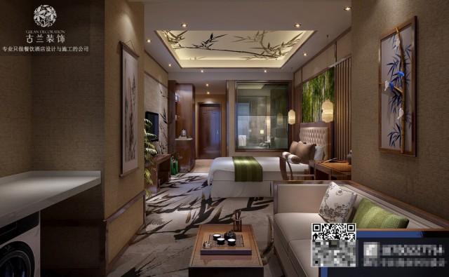 天津酒店设计公司-成都茗山居商务酒店装修效果图