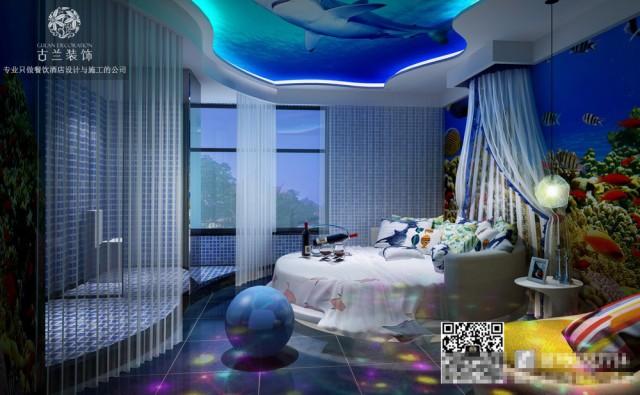 济南非知名酒店设计公司哪家好-恋念不忘情侣酒店装修效果图案例