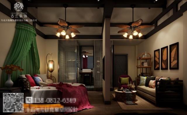 汉中酒店装修设计公司|龙泉花涧客栈设计图