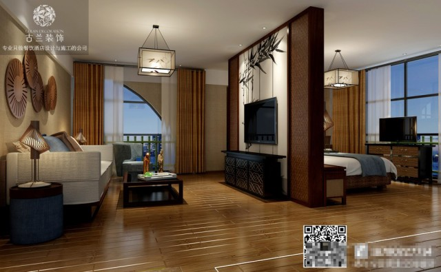 品竹左岸春天大酒店的灵感来源于中国的竹海, 昆明酒店设计团队充分使用了竹海的人文和景点, 赋予了酒店一个焕然一新的面貌。