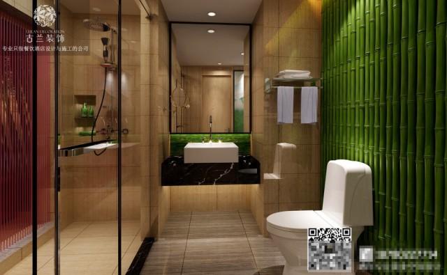 卫生间这个区域,昆明酒店设计公司总是谈到光在酒店里的重要性。 他用抛光镀高的瓷砖将带入墙面面再反射到玻璃上。 即使在阴沉的冬日依然能感受到空间的明亮。