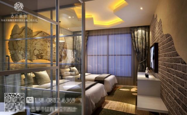 黑河酒店设计装修公司-金堂逸美主题酒店设计装修图