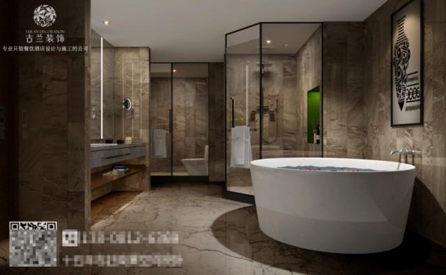 我们在来看看它的洗手间,木纹铝板与造型玻璃的大面积运用,丰富着空间视觉。空间设计清雅简约,清浅的木色勾勒出整体空间的雅净氛围。