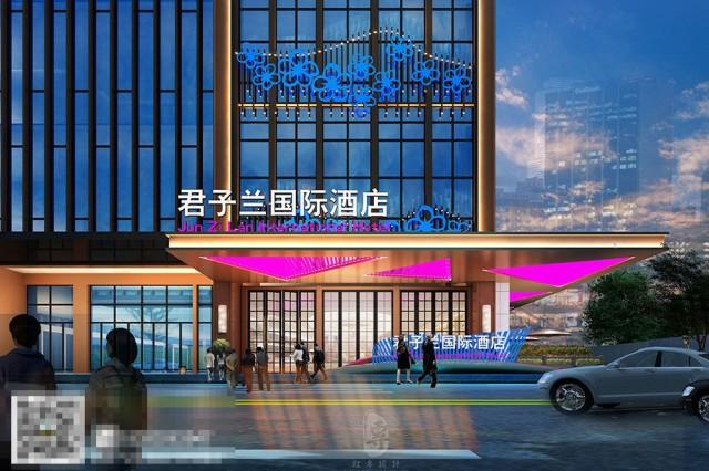 高端国际酒店设计-外立面设计