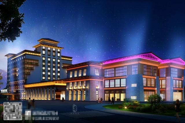 康定锅庄温泉度假酒店外观-自贡酒店设计公司