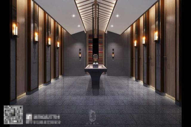 康定锅庄温泉度假酒店大堂设计-自贡酒店设计公司