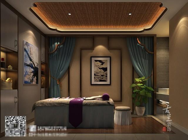 南宁专业美容院装修设计公司-成都BD蓝梦美容院装修效果图