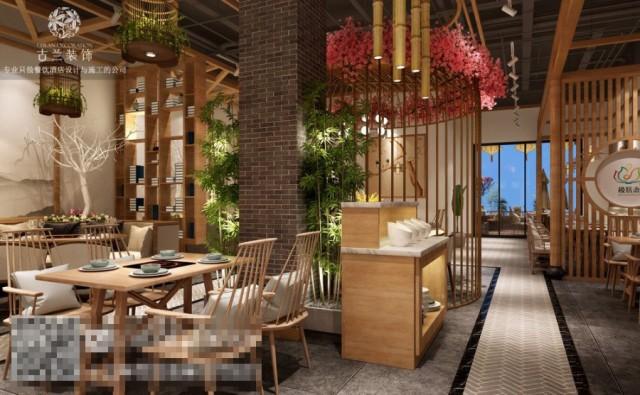 成都养身汤锅店设计 极膳斋养身餐厅设计装修图