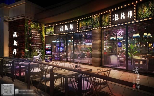时尚花园音乐主题餐吧设计-陕西餐厅设计-成都专业餐厅装修公司