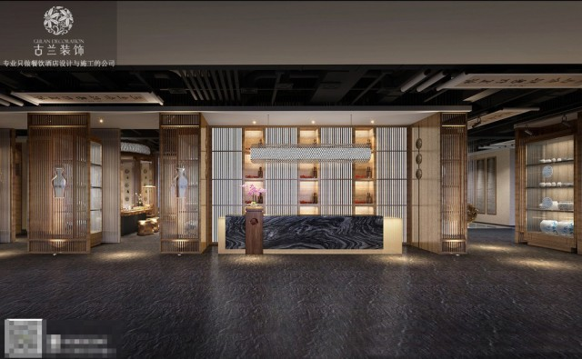 茶楼设计案例-巴中商务茶楼设计-禅式风格,茶楼风格设计